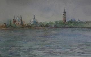 Watercolour Giudecca. Caroline Barray